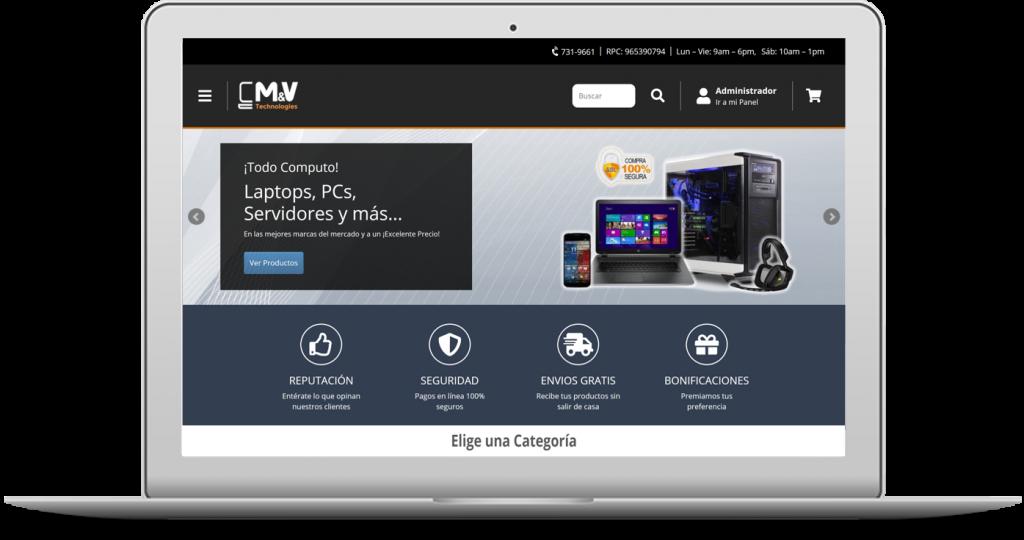 m&v technologies es una tienda de productos informáticos tales como computadoras, laptops, pc de escritorio y muchos más.